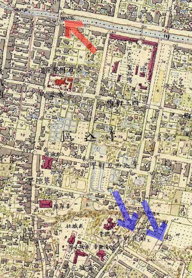 古地図:明治9-17年(1876-84年)5千分の1東京図測量原図より