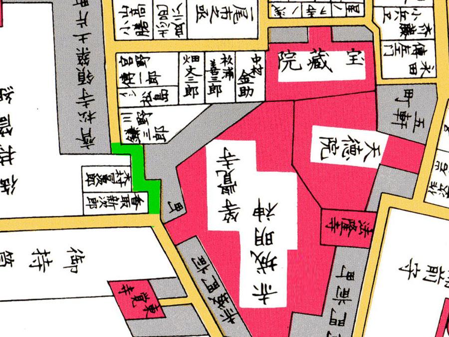 古地図:赤城坂クランク部分