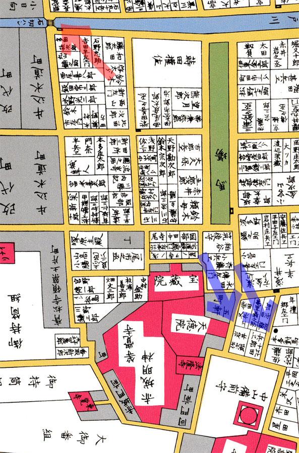 古地図:嘉永七年尾張屋刊江戸切絵図