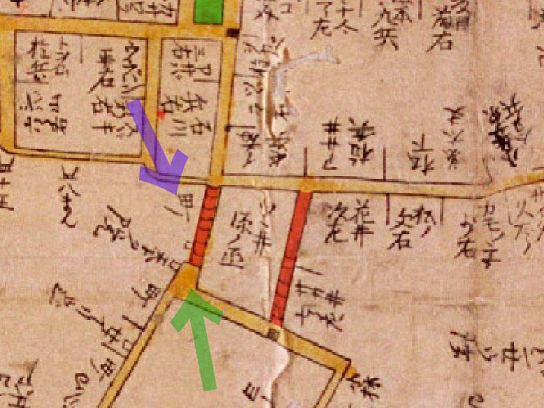 古地図:寛文10-13年(1670-73)新版江戸大絵図より
