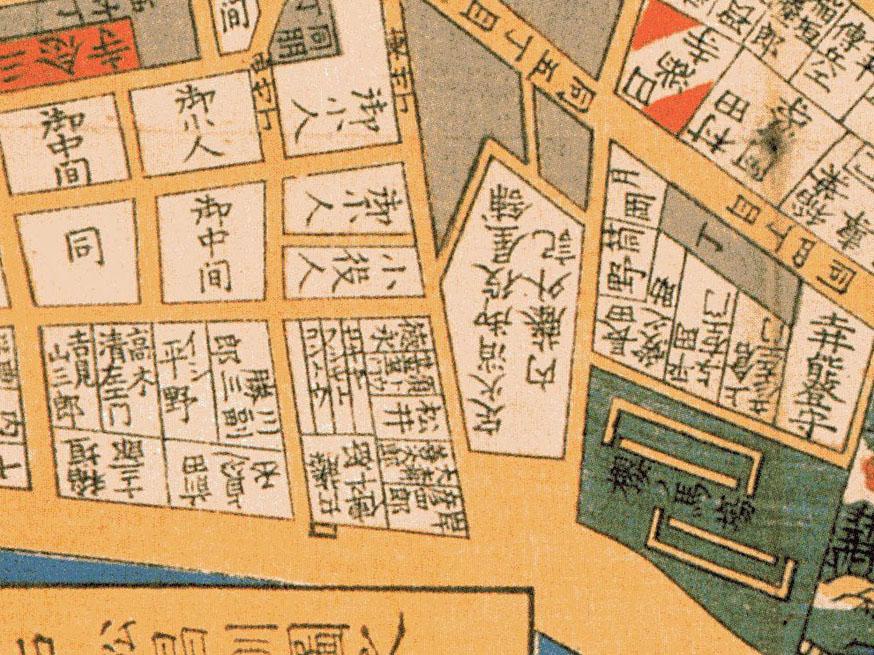古地図:嘉永六年(1853年)尾張屋刊江戸切絵図