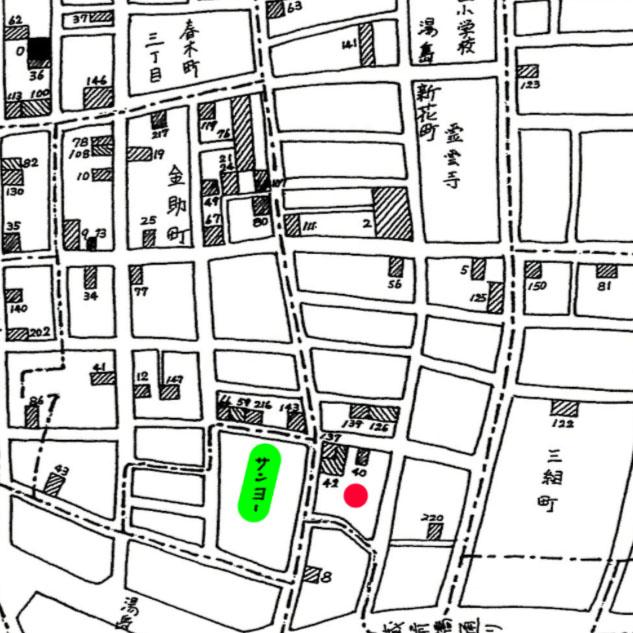 昭和32年文京区医療機器産業地図