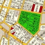 古地図:嘉永七年(1854年)尾張屋刊江戸切絵図より新町屋