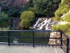 椿山荘の五丈の滝