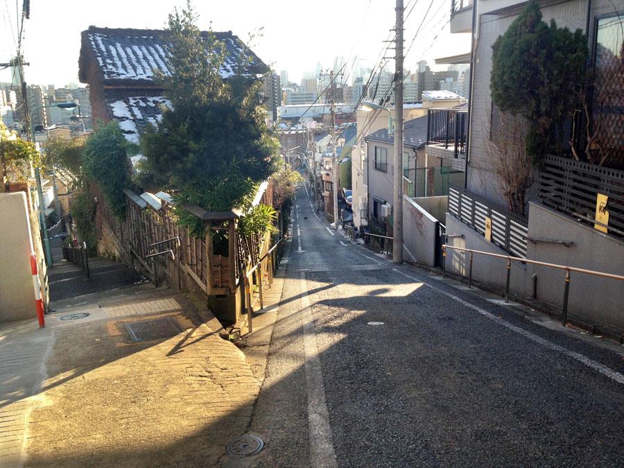 左:日無坂、右:富士見坂