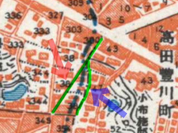 古地図:昭和30-35年(1955-60年)1万分の1地形図