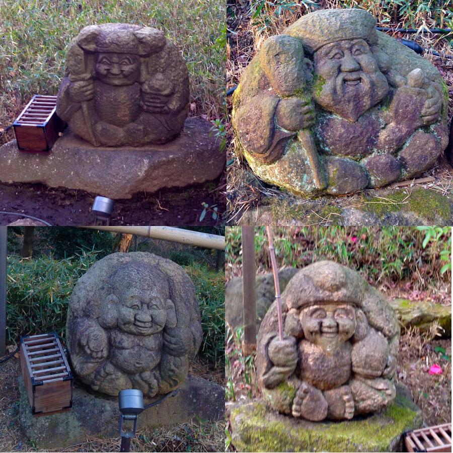 椿山荘の七福神
