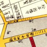 嘉永二年(1849年)文久二年 (1862年)改 尾張屋刊江戸切絵図よりモチノキ坂