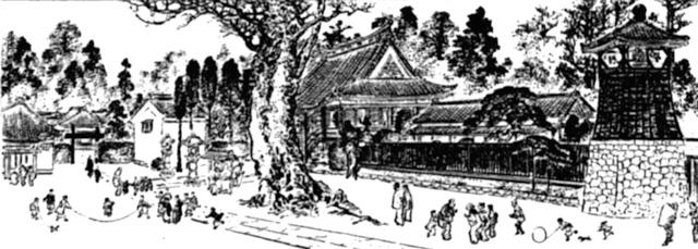 新長谷寺目白不動堂(明治東京名所図絵より)