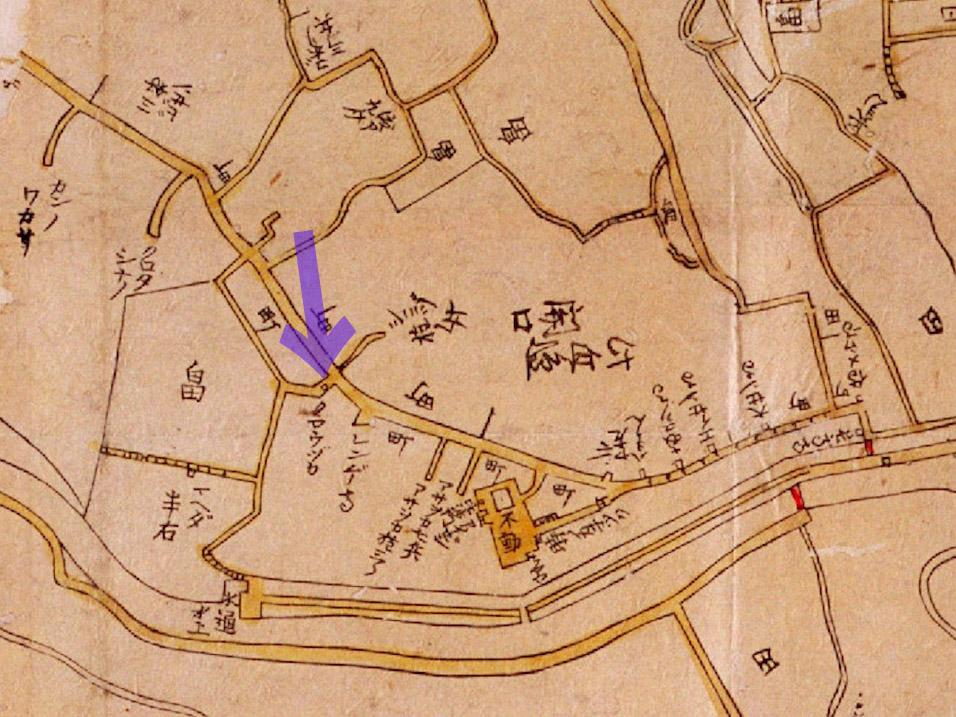 古地図:寛文10-13年(1670-73年)新版江戸大絵図より