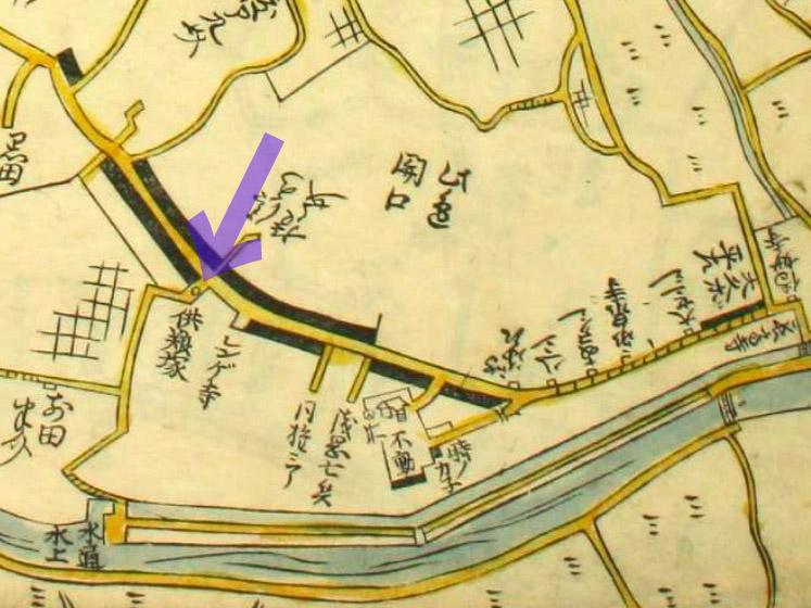古地図:延宝8年(1680年)江戸方角安見図より