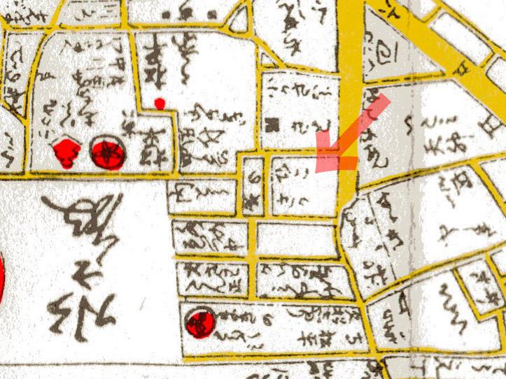 古地図:寛政新版江戸安見図(1797年)