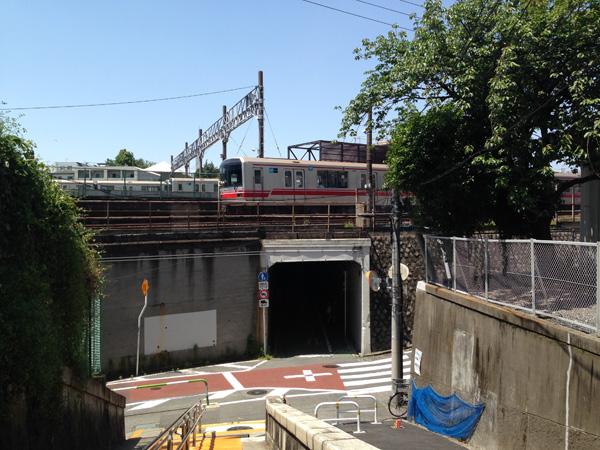 切支丹坂から隧道