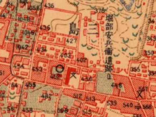 大正5-10年(1917-21年)陸地測量部2万5千分の1地形図より