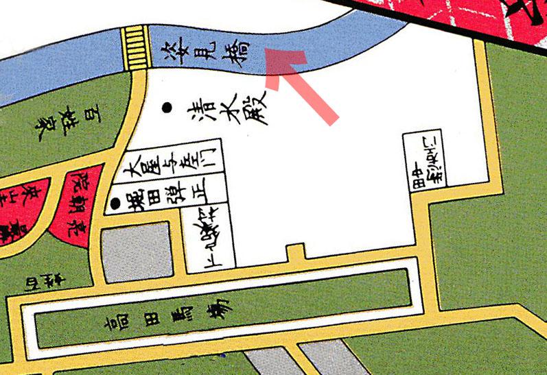 永七年(1854年)尾張屋刊江戸切絵図より牛込市ヶ谷大久保絵図
