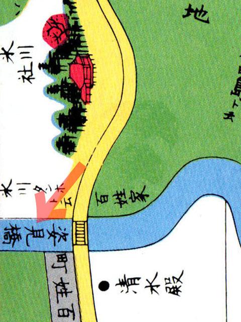 嘉永七年(1854年)尾張屋刊江戸切絵図雑司ヶ谷音羽絵図より