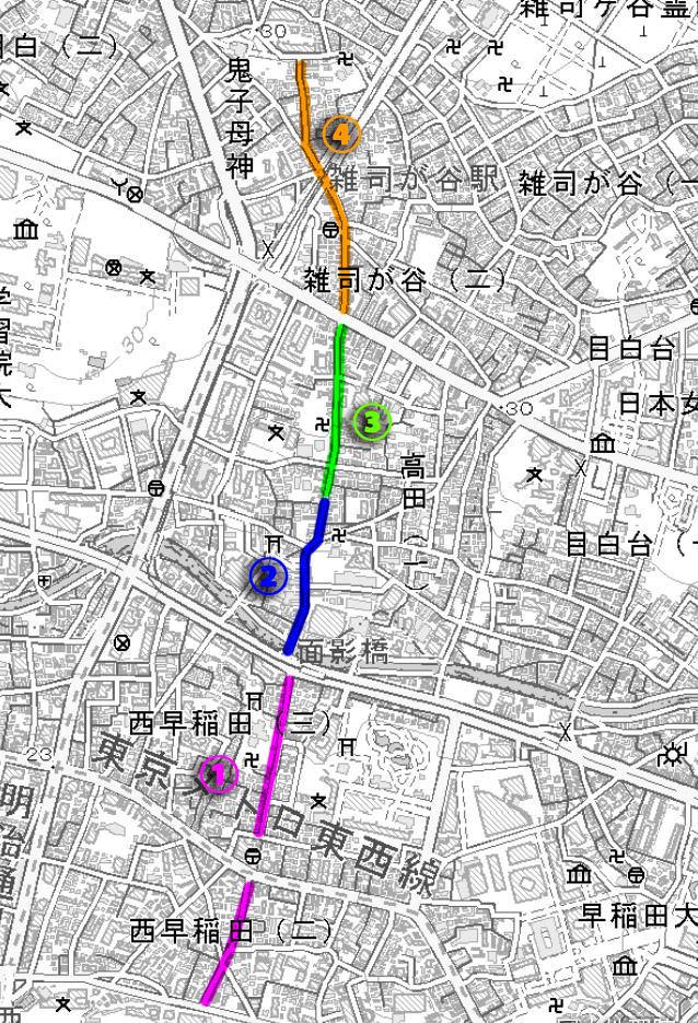 古鎌倉街道道筋