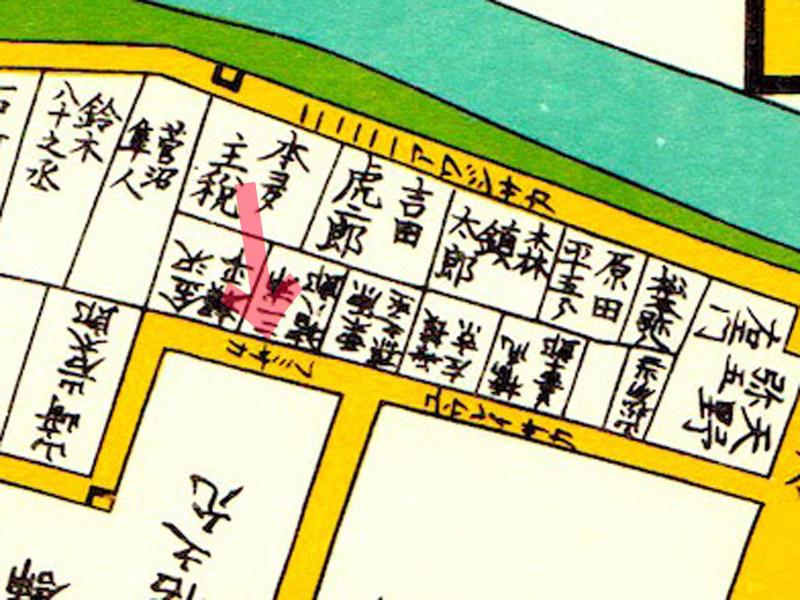 嘉永六年(1853年)尾張屋刊江戸切絵図より「フミサカ」