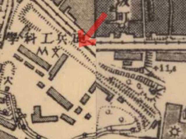 古地図:明治41-42年(1908-09年)1万分の1測図より射撃場