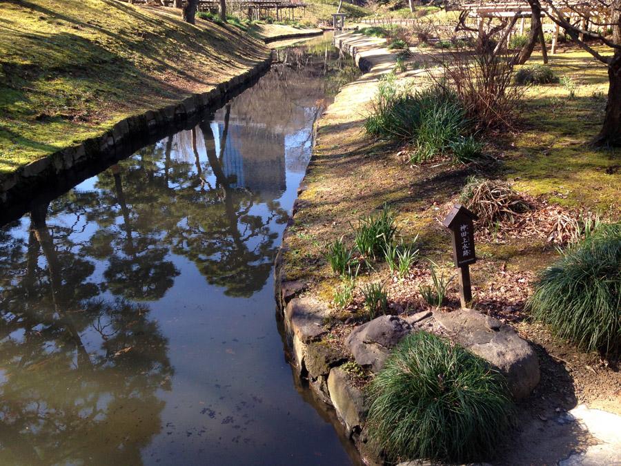 小石川後楽園内の神田上水跡