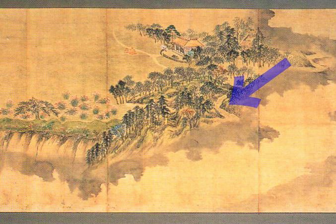 小石川後楽園図(部分)