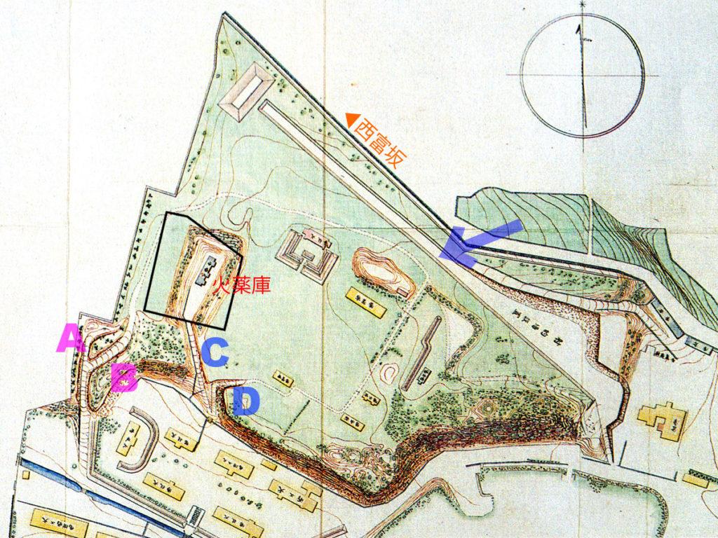 東京砲兵工廠全図(クリックで拡大)。