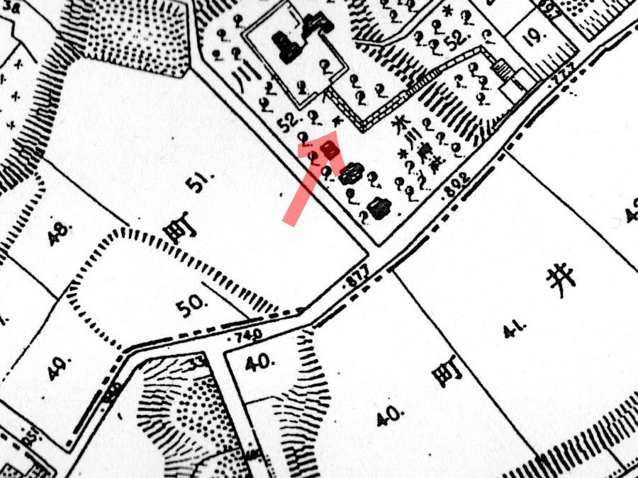 古地図:明治20年(1887年)東京実測図より赤坂氷川神社
