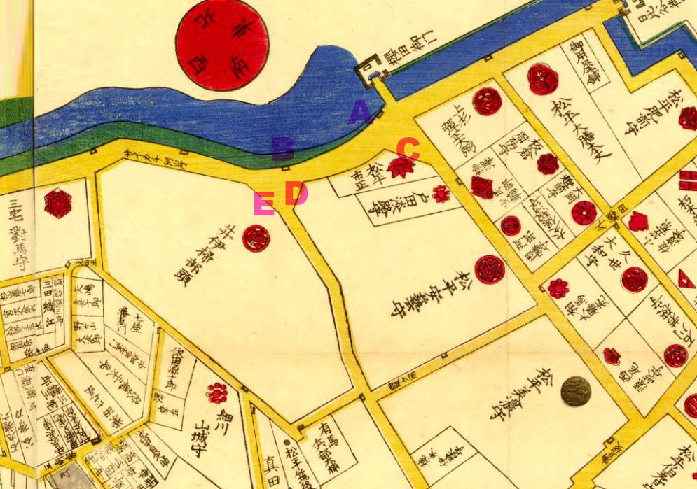 安政六年(1859年)外桜田絵図