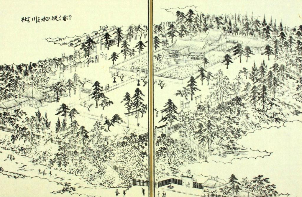 江戸名所図会より赤坂氷川神社