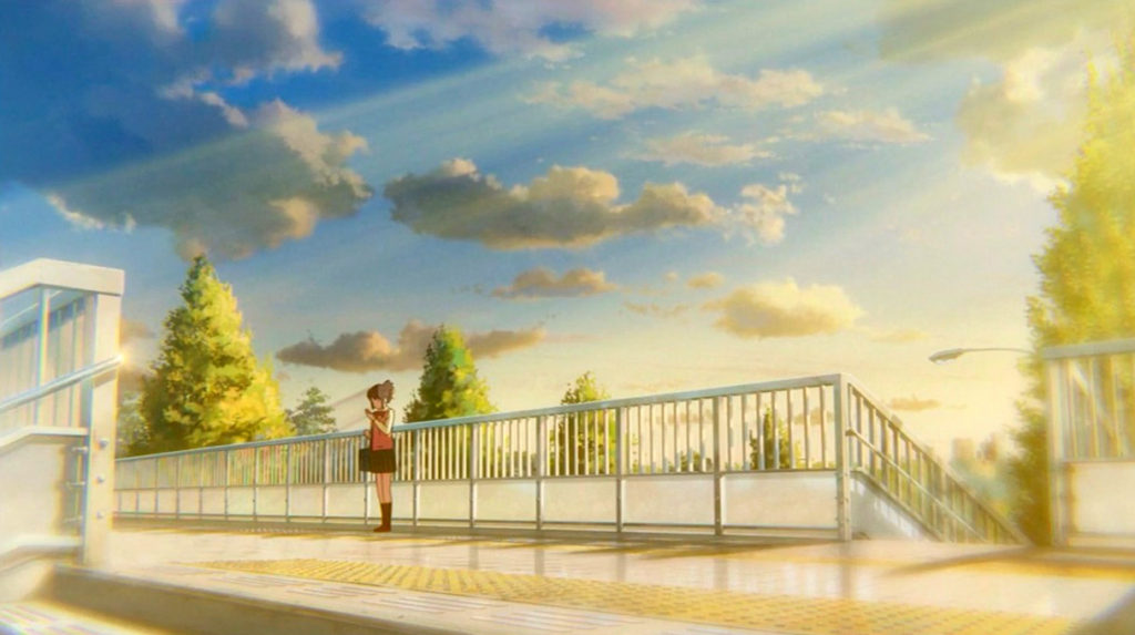 君の名は。信濃町駅前歩道橋。