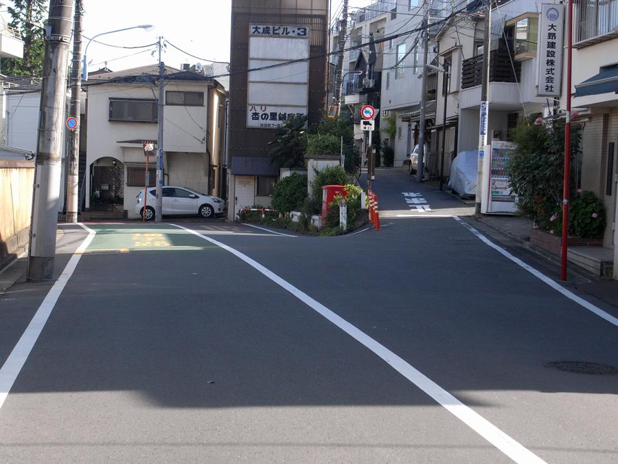 君の名は。円通寺坂の分かれ道。