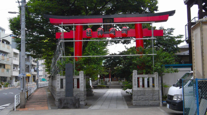 洲崎神社の几号水準点