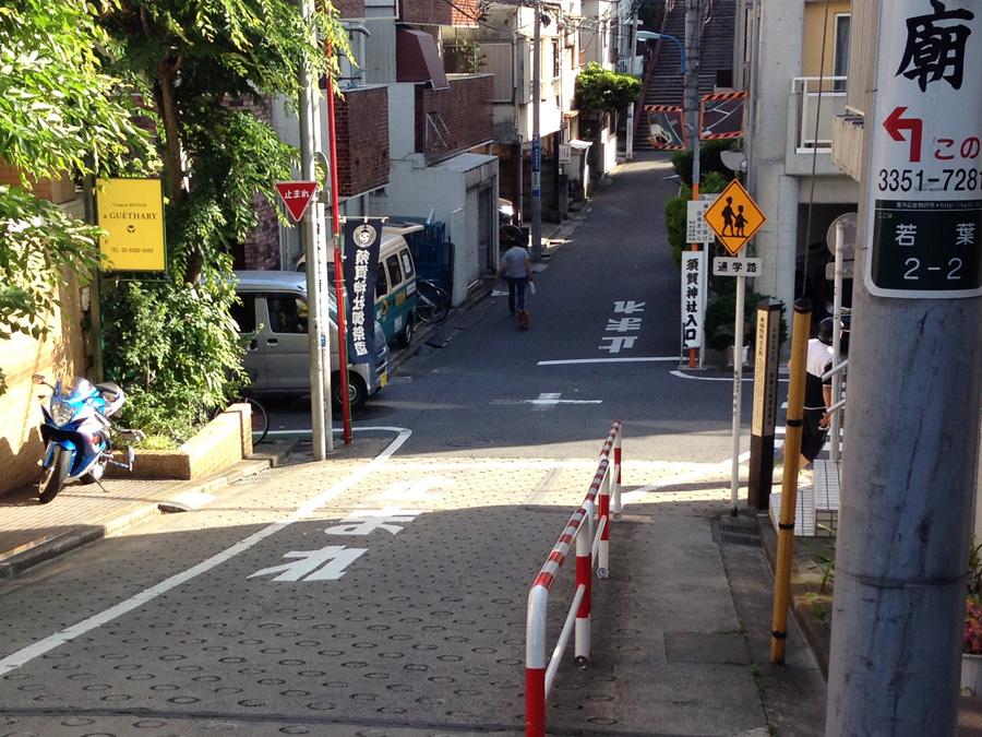 君の名は。須賀神社入口交差点