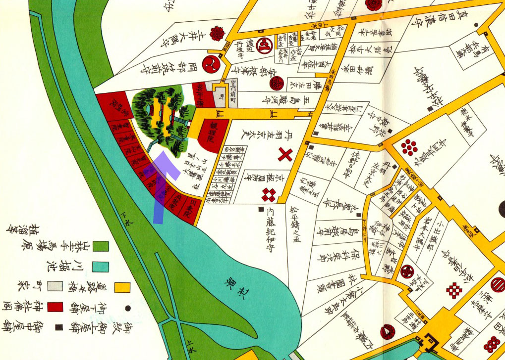 古地図:元治元年(1864年)尾張屋刊外桜田絵図より山王日枝神社