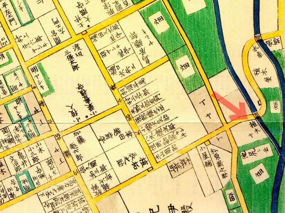 古地図:文久二年(1862年)尾張屋刊内藤新宿千駄ヶ谷図
