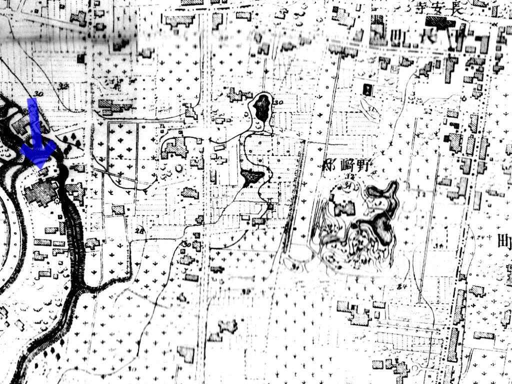 明治16年(1883年)測量明治19年(1886年)製版5千分の1東京図測量原図より