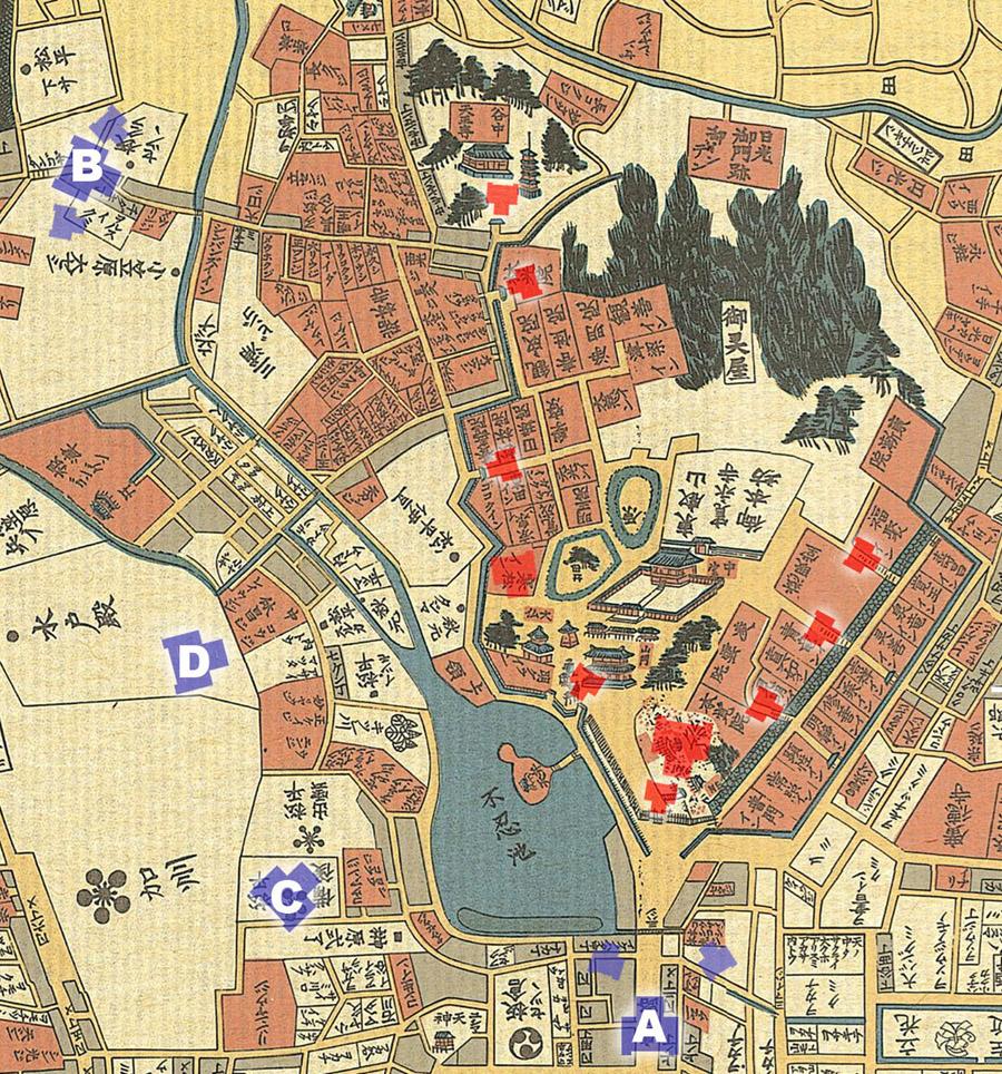 上野戦争主力配置図