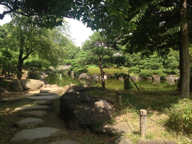 現在、隅田公園の水戸下屋敷(小梅の水戸様)。