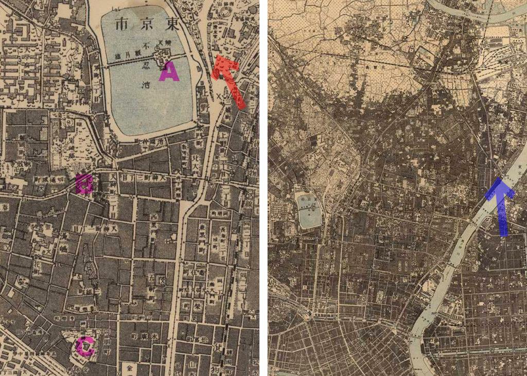 古地図:明治41-42年(1908-09年)1万分の1測図より