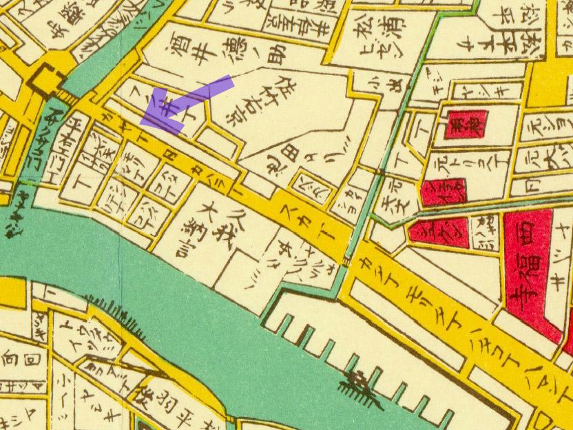 明治二年(1869年)東京全図より茅町。