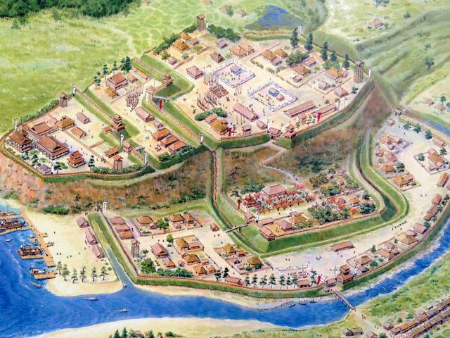 太田道灌の江戸城想像図