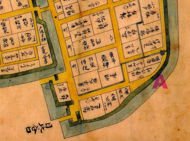 江戸始図の数寄屋橋のあるべき位置