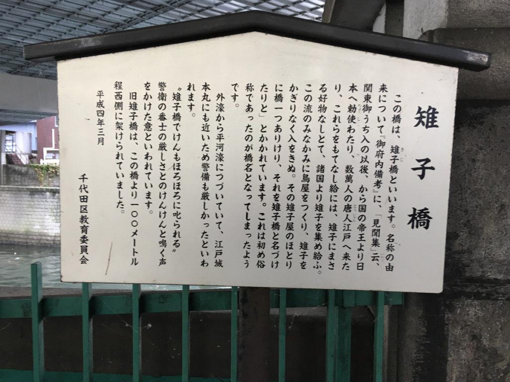 雉子橋説明板