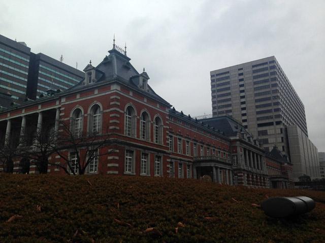 現・上杉家江戸藩邸跡に建つ法務省れんが練。