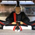 吉良上野介木像。