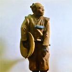 旅姿の寺坂吉右衛門木像