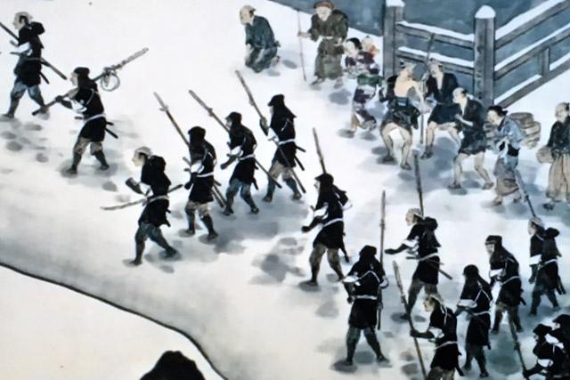 赤穂浪士の行進