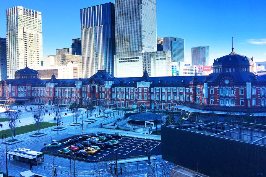 丸ビル5階からの東京駅丸の内駅舎