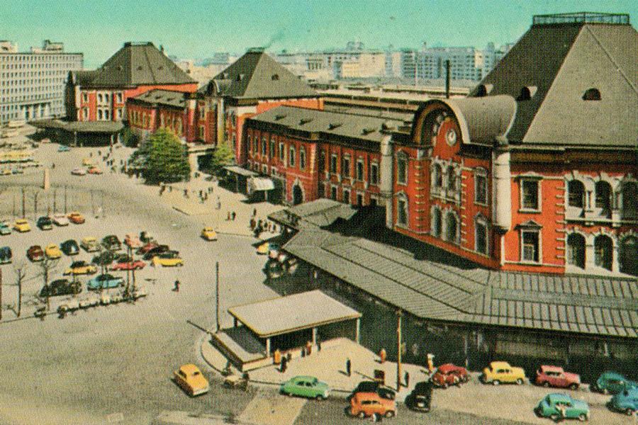 昭和の八角屋根の東京駅
