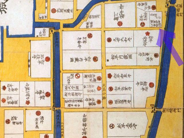 古地図:嘉永二年(1849年)大名小路神田橋内内桜田之図より北町奉行所。